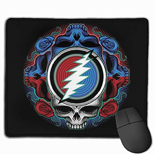Grate-ful Dead Printed Mouse Pad Cool Skull Mousepad with Nonslip Base Waterproof for Computer Laptop Home Office Gaming Working 7.1x8.7 inches/11.8x9.85 inches