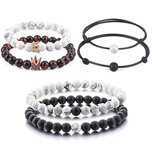 Believe London Distance Bracelets Couples Relationship Strong Elastic Friendship His Hers King Queen
