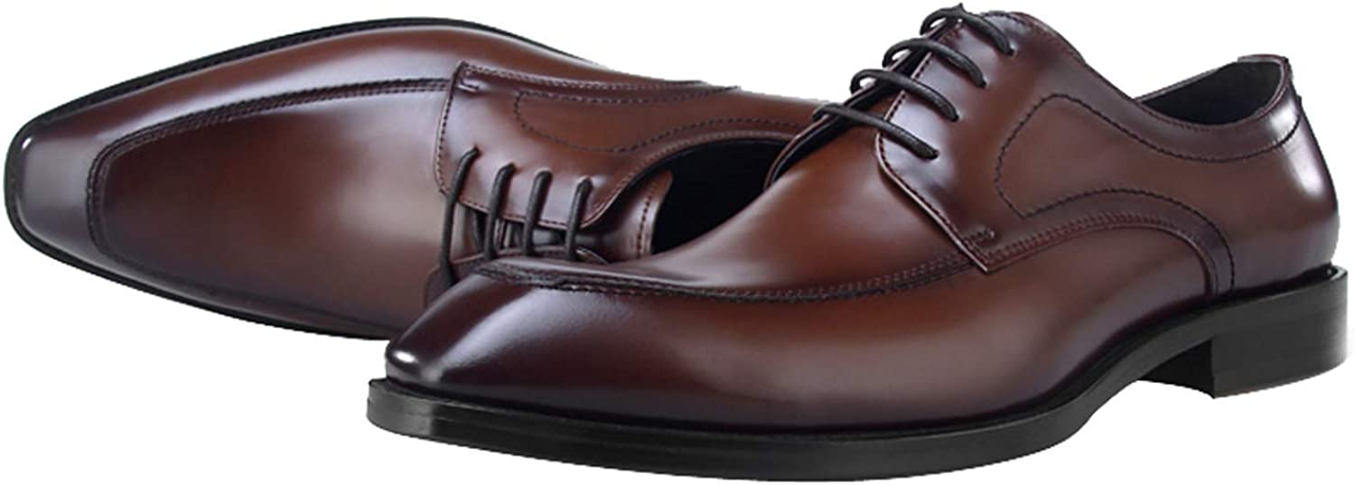 BONGZUO Men Leather Oxford shoes, Small Leather shoes Leather Men Formal Wear Casual shoes Business Square Head British Men shoes 2018 Autumn, YMP64-QX1