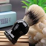 Herramienta para afeitar barba, brocha de afeitar práctica para el hogar para barberos para peluquería(Pig bristle black handle (no logo))