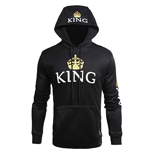 2b795ffc50 ZZhong Queen King Printed Hooded Sweatshirt Fashion Couples Pullover Hoodie