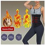 DIIIBARLORY SweatFIT Adjustable Waist Slimming Trimmer - Original Neoprene Sweat Waist Trainer Corset Trimmer Belt for Women Weight Loss, Waist Cincher Shaper Slimmer (Black, L)