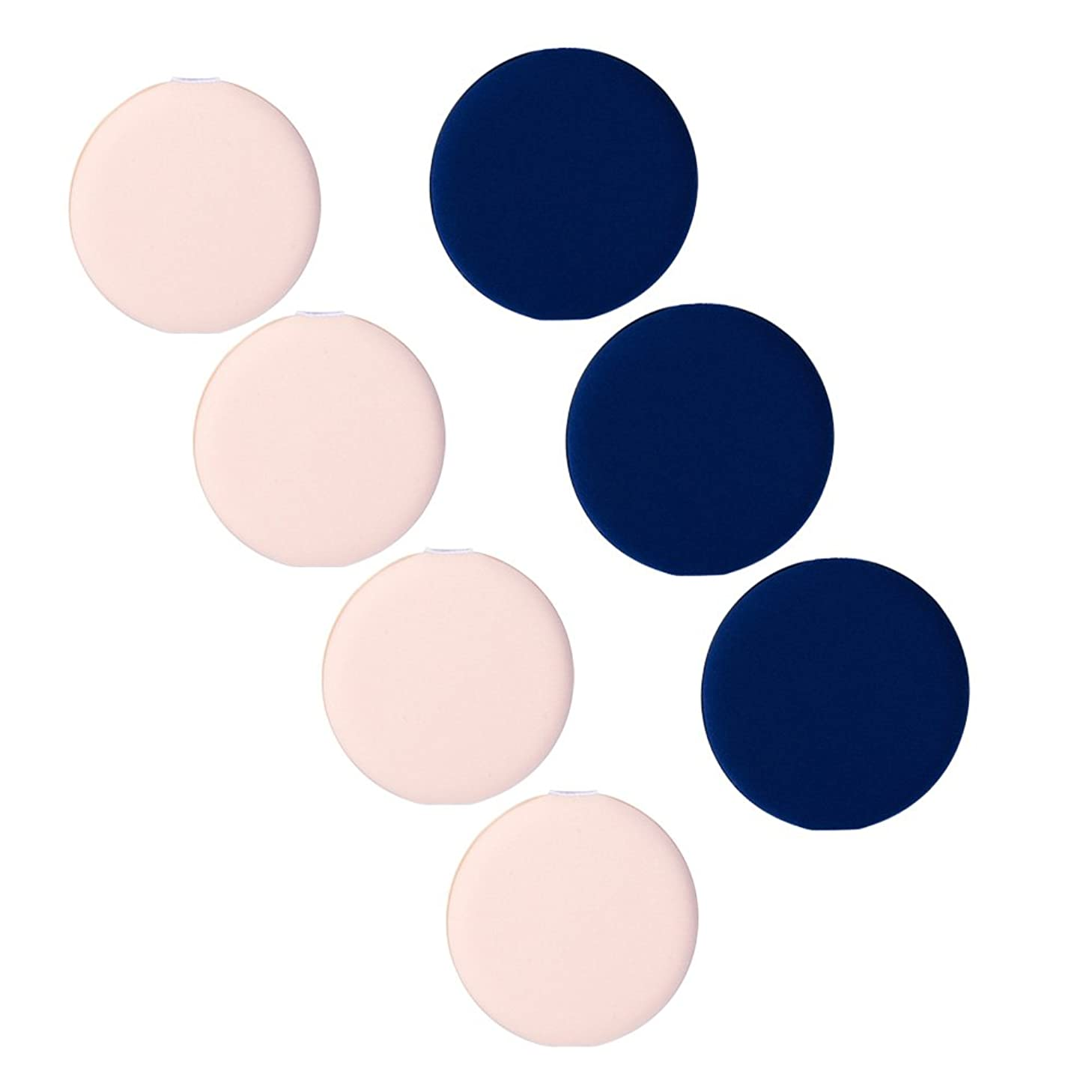 九荷物北7個/セット ミニメイクアップ  パウダーファンデーション BBクリームエアクッションパフ  化粧品用具