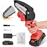 Vogvigo Portable Electric Cordless Chainsaw, Mini Electric Chainsaw Professional Cordless Electric Pruning Saw Rechargeable 24V Lithium Battery Powered Tree Branch Pruner Garden Tool