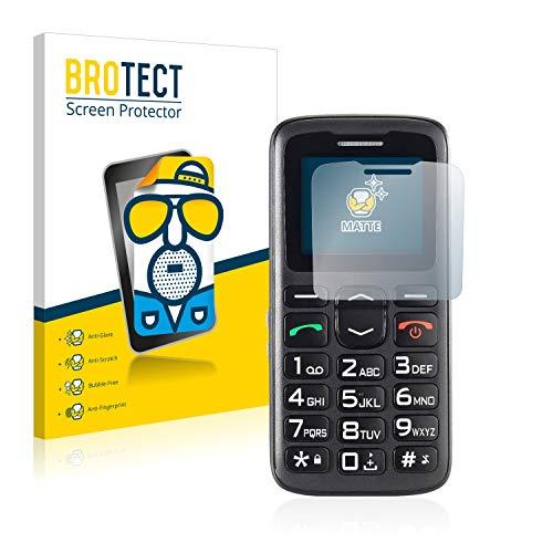 BROTECT 2X Entspiegelungs-Schutzfolie kompatibel mit Simvalley Mobile XL-915 V3 Bildschirmschutz-Folie Matt, Anti-Reflex, Anti-Fingerprint