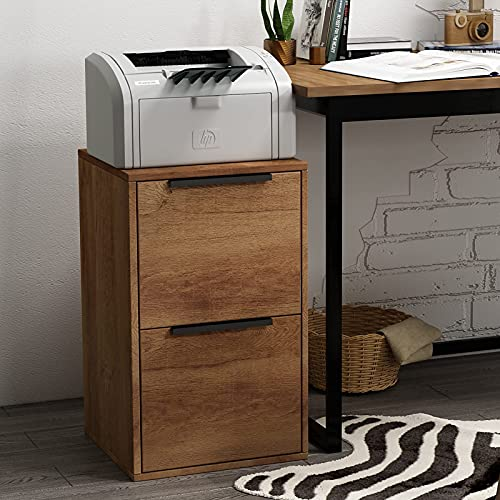GREATMEET 2 Drawers Wood File Cabinet Letter Size, 15.17