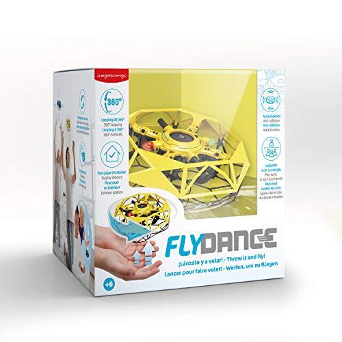 Juegaconmigo FLYDANCE, una Estrella Flotante Que Evita obstáculos y Que Haces Bailar con Tus Manos. Mini dron para niños. (Amarillo)