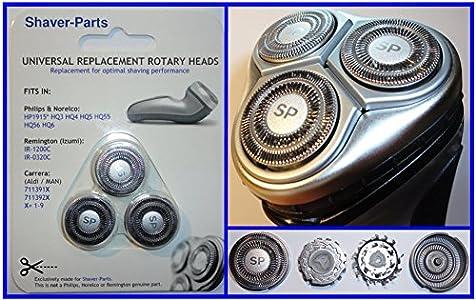 Cabezales de afeitado alternativos Modelo HP1915, HQ3 HQ4 HQ5 HQ55, cabezales de afeitado que se ajustan a las afeitadoras Philips (este no es un artículo original de Philips).