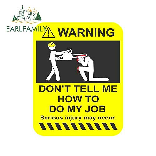 JYIP 13cm x 10.7cm Car Sticker Funny Warning Vinyl Sticker iPad Laptop Car Drift Dub Job Joke Graphic
