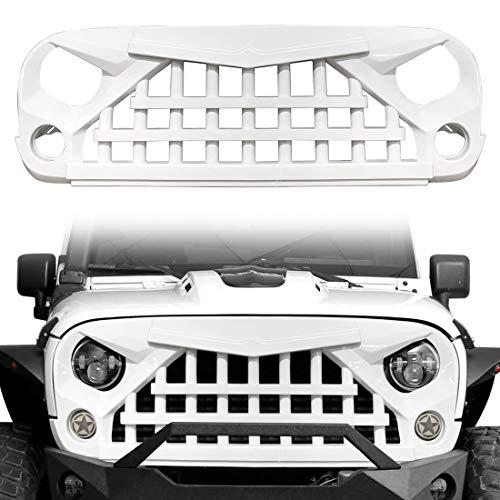 51rvJ7KIVDL - CStern Samurai Style Frontgrill Kühlergrill Kühlergitter Lüftungsgitter Glänzend Weiß für Jeep Wrangler JK 2007-2018