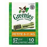 Snack dental Greenies Petite para perros de 7kg a 11kg, bolsa de 170g (Pack...