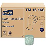 Tork Universal TM1616S Bath Tissue Roll, 2-Ply, 4' Width x 3.75' Length, White (Case of 96 Rolls, 500 Per Roll, 48,000 Sheets)