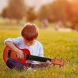 WISHTIME Guitarra Musical Ukulele Juguetes Educativos Guitarra Eléctrica con 4 Cuerdas Instrumentos de Juguete Musical Regalo para el Aprendizaje de los Niños (Color en Azar)