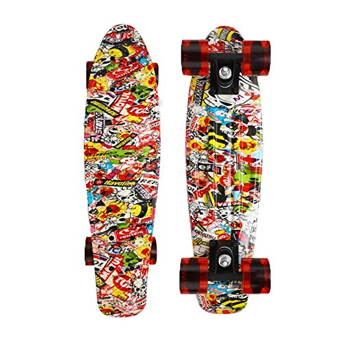 Buy XSWY Skate Board Skateboard Plastic Starry Sky Printed Long Board Street Outdoor Sports (Color :...