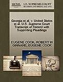 Georgia et al. v. United States et al. U.S. Supreme Court Transcript of Record with Supporting Pleadings