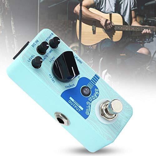 Conveniente pedal de retardo de efecto de guitarra de efecto único para guitarra eléctrica para practicar para el guitarrista