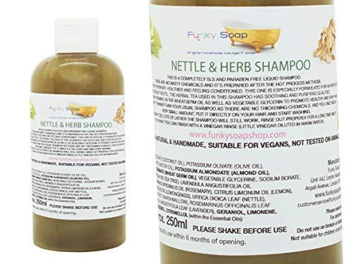 Funky Soap 1 Botella Liquido Ortiga y Hierbas Champú 100% Natural sin SLS 250ml