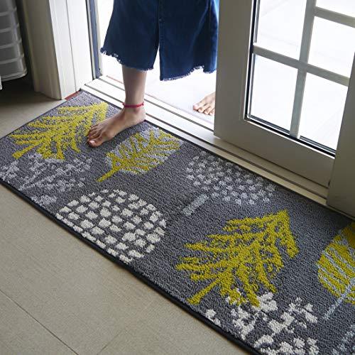 Felpudo Felpudo Delantero Antideslizante, Absorbente, Resistente a la Suciedad, tapete para casa, alfombras de Entrada y tapete de Entrada, Lavable a máquina 45 × 120 cm