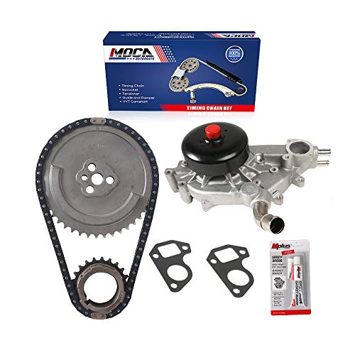MOCA Timing Chain Kit & Water Pump Kit Compatible with 02-04 Cadillac Escalade 5.3L/6.0L & for Chevrolet Avalanche 1500 5.3L & 00-03 for Chevrolet Tahoe & GMC Yukon 5.3L V8 OHV
