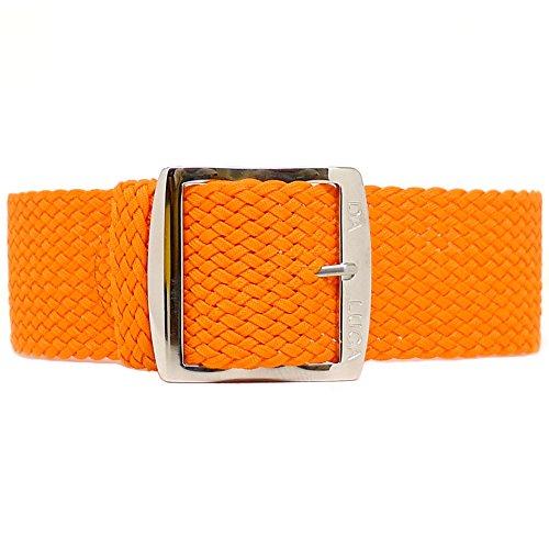 Fibbia cinturino Perlon Daluca–arancione (lucido): 18mm