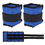 1 Pair Ankle Weight Oxford Cloth/Iron Sand/Adjustable Wrist Strap for Fitness, Jogging, Walking, Exercise, Gym, Training/Blue,2PC(2x3kg)