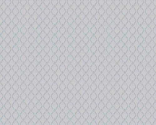 Schöner Wohnen 303851 Vliestapete geometrische Tapete, grau, metallic, 10,05 m x 0,53 m