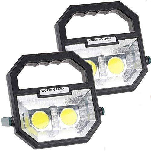 FDGSD Luz de Trabajo LED portátil de 10 vatios, Luces de inundación Recargables inalámbricas, Foco Impermeable IP65, 6 Modos de iluminación, 360 °;Soporte Giratorio, lámpara de Trabajo Manual de