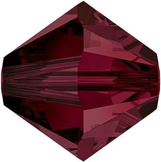 Swarovski Crystal Bicones 5301/5328 4mm Garnet- 50 Beads