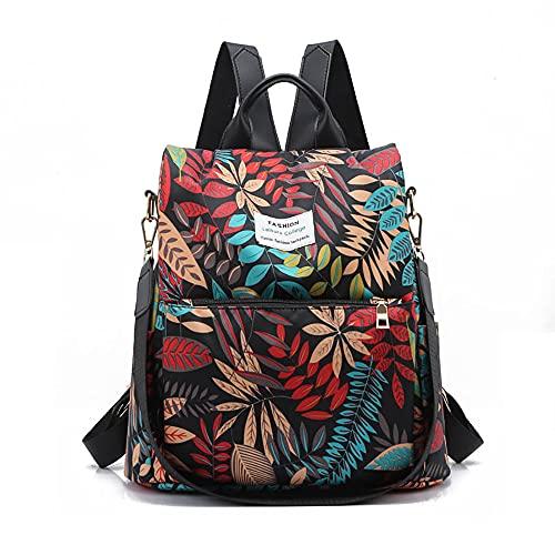 Mochila casual impermeable antirrobo para las mujeres para estudiantes y niñas, mochila escolar