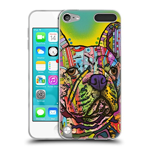 Head Case Designs Officially Licensed Dean Russo French Bulldog Dogs Soft Gel Case Compatible with Apple iPod Touch 5G 5th Gen