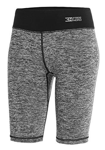 FITTECH Gym pour Femmes Leggings Court Pantalons Fitness Yoga Pilates Cyclisme Course à Pied (L)