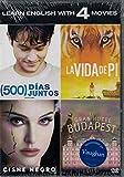 500 Dias Juntos + El Gran Hotel Budapest + La Vida de Pi + El Cisne Negro 4 DVDs