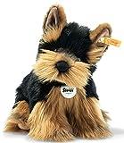 Steiff 76923 - Perro de Peluche Original de Herkules Yorkshire Terrier, Aprox. 24 cm, diseño de botón en la Oreja, Color marrón y Negro