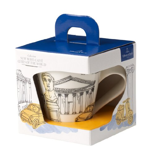 Villeroy & Boch 10-3528-9100 Cities of the World Kaffeebecher Rome, Premium Porzellan, /Gelb gelb