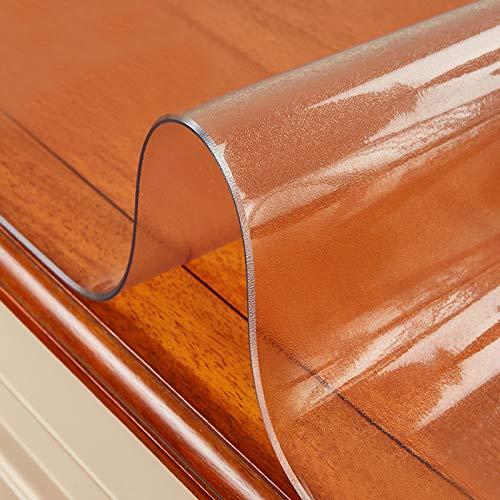 KDDEON Mantel Transparente Esmerilado de Vidrio Suave de PVC,Mantel Protector de Mesa Impermeable/Limpiable,para Mesas de Café,Almohadilla de Escritorio,Tapetes Antideslizantes (50x50cm/20x20in)