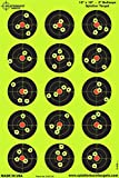 Splatterburst Targets - 12 x 18 inch - 3 inch Bullseye Shooting Target - Shots Burst Bright Fluorescent Yellow Upon Impact - Gun - Rifle - Pistol - Airsoft - BB Gun - Pellet Gun - Air Rifle (10 Pack)