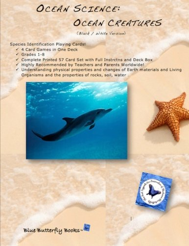 Ocean Science - Ocean Creatures Playing Cards: (Black/White Version)