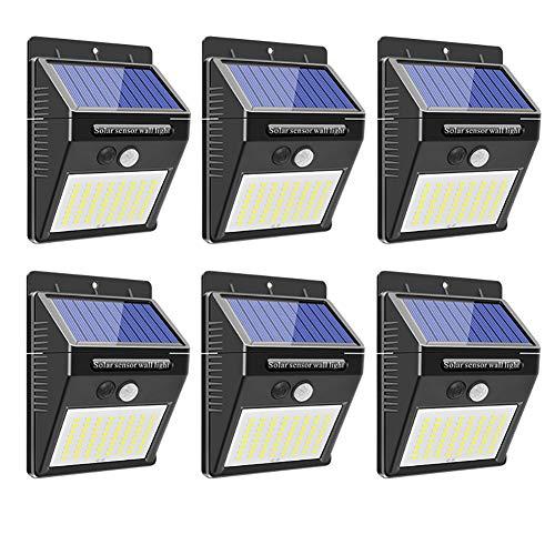 6 Piezas: Luces solares al Aire Libre 64 Leds PIR Sensor de...