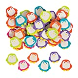 Fun Express Mini Penguin Eraser Asst - 144 Pieces - Educational and Learning Activities for Kids