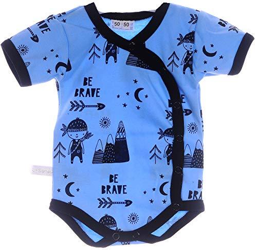 La Bortini Wickelbody Body Baby Kurzarmbody 44 50 56 62 68 74 80 86 92 98 Frühchen Reborn (74)