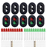 Evemodel 10 Sets Target Faces with LEDs for Railway Signal O Scale 2 Aspects JTD23