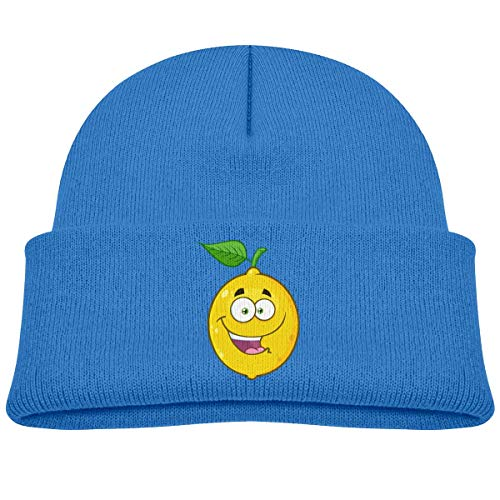 Voxpkrs Happy Yellow Lemon Fruit Cartoon Baby Infant Toddler Winter Warm Beanies Hat Cute Children's Thick Stretchy Cap Cool 33430