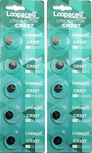 Loopacell CR927 Lithium 3V Battery, 5 Count (Pack of 2)