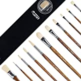 Best Oil Paint Brushes - Artify 11 pcs Professional Oil Paint Brush Set Review