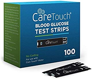 Care Touch Blood Glucose Test Strips (100 Count) for Use with Care Touch Monitor - 1 Box of 100