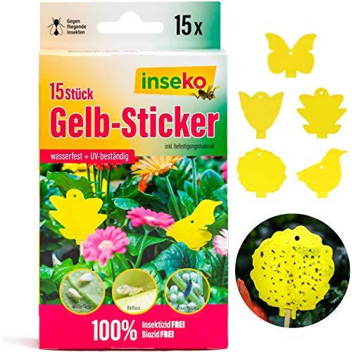 inseko Profi Gelbsticker Gelbtafeln Gelbfalle Fliegenfalle - umweltfreundlich/giftfrei (15)
