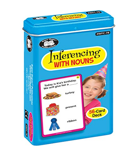 Super Duper Publications Inferencing with Nouns Fun Deck Flash Cards Early Reader Educational Learning Resource for Children