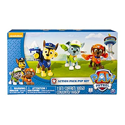 Paw Patrol Chase/Rocky y Zuma Action Pack Pup Set de Paw Patrol