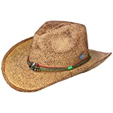 Stetson Townsend Toyo Westernhut Sommerhut Sonnenhut Cowboyhut Damen/Herren - Frühling-Sommer - M (56-57 cm) braun-meliert