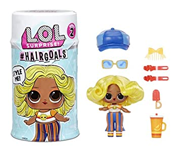 LOL Surprise Hairgoals Series 2 with 15 Surprises Including Real Hair Fashion Doll Exclusive Hair Salon Toy Chair Doll Accessories Bottle Comb - Small Dolls for Girls Ages 4-14 Years